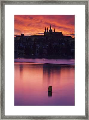 Prague Castle Framed Print by Andre Goncalves