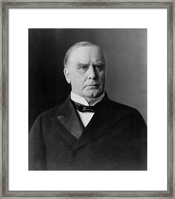 President William Mckinley Framed Print by War Is Hell Store