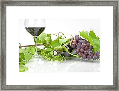 Red Wine Framed Print by Joana Kruse