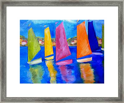 Reflections Of Tortola Framed Print by Patti Schermerhorn