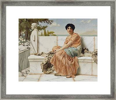 Reverie Framed Print by John William Godward