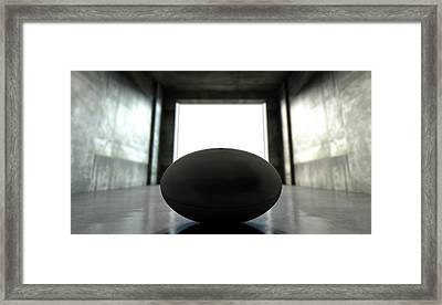 Rugby Ball Sports Stadium Tunnel Framed Print by Allan Swart