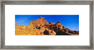 Ruins Of 900 Year Old Hopi Village Framed Print by Panoramic Images