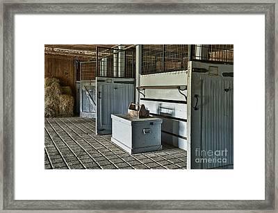 Rustic Stable Framed Print by John Greim