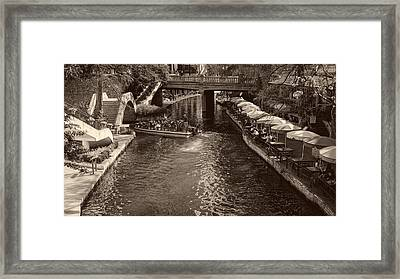 San Antonio's Famous River Walk Framed Print by Mountain Dreams