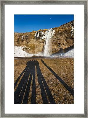 Seljalandsfoss Waterfall In The Winter Framed Print by Panoramic Images
