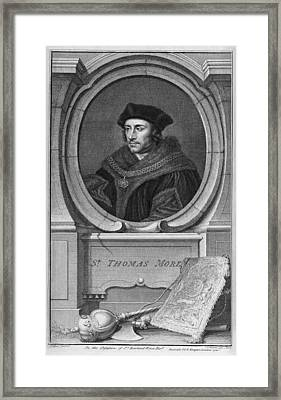 Sir Thomas More, English Statesman Framed Print by Middle Temple Library