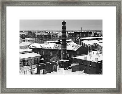 Snow Cleaners In Helsinki Framed Print by Mountain Dreams
