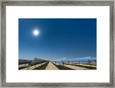 Solar Power Plant, California, Usa Framed Print by David Nunuk