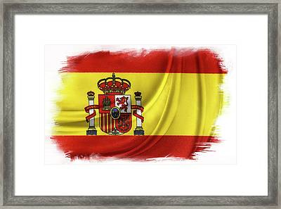 Spanish Flag Framed Print by Les Cunliffe