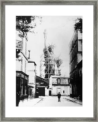 Statue Of Liberty, Paris Framed Print by Granger
