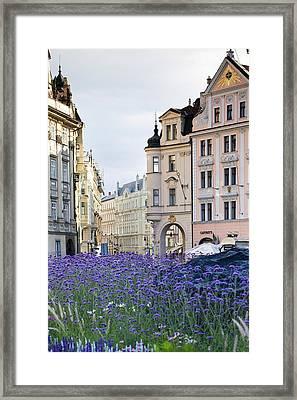 Streets Of Prague Framed Print by Andre Goncalves