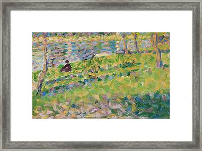Study For Sunday Afternoon On The Island Of La Grande Jatte Framed Print by Georges Pierre Seurat