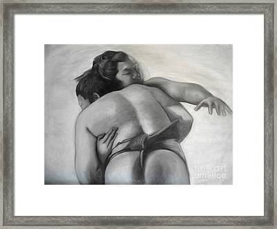 Sumo Framed Print by Gabriela Junosova