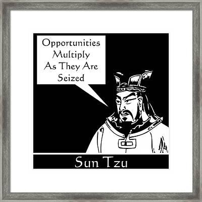 Sun Tzu Framed Print by War Is Hell Store