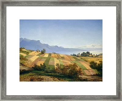 Swiss Landscape Framed Print by Alexandre Calame