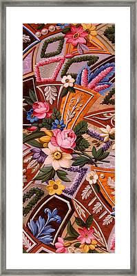 Textile Design Framed Print by William Kilburn