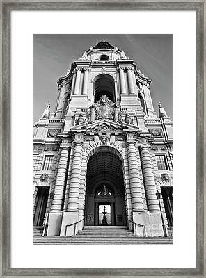 The Beautiful Pasadena City Hall. Framed Print by Jamie Pham