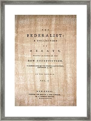 The Federalist, 1788 Framed Print by Granger