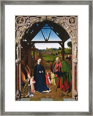 The Nativity Framed Print by Petrus Christus