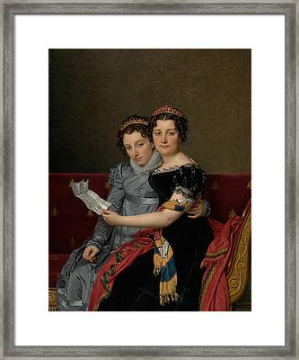 The Sisters Zenaide And Charlotte Bonaparte Framed Print by Jacques-Louis David