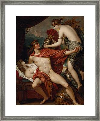 Thetis Bringing The Armor To Achilles Framed Print by Benjamin West
