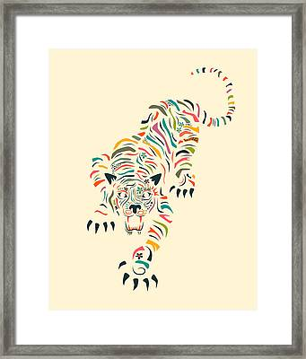 Tiger Framed Print by Jazzberry Blue