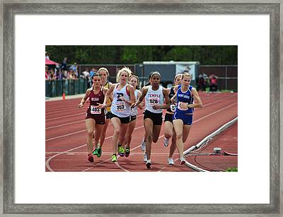 Tight Race Framed Print by Mike Martin