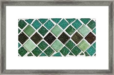 Tiles Framed Print by Tom Gowanlock