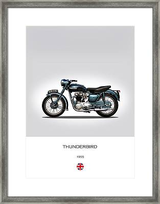 Triumph Thunderbird 1955 Framed Print by Mark Rogan