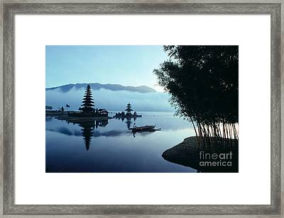 Ulu Danu Temple Framed Print by William Waterfall - Printscapes