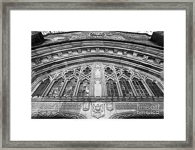 University Of Michigan Law Library Framed Print by University Icons