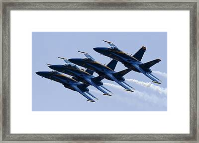 Us Navy Blue Angels Poster Framed Print by Dustin K Ryan