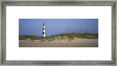 View Of Cape Lookout Lighthouse Framed Print by Stephen Alvarez