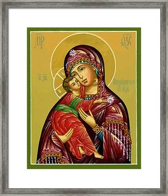 Virgin And Child Painting Framed Print by Christian Art