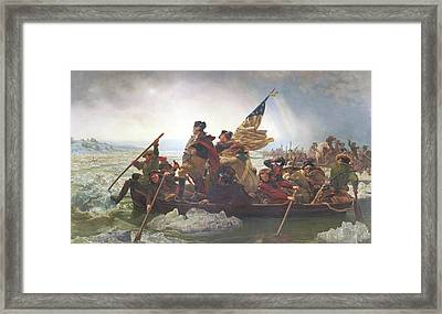 Washington Crossing The Delaware Framed Print by Emanuel Gottlieb Leutze