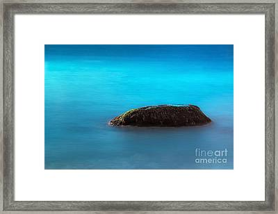 Water Rock Framed Print by John Greim