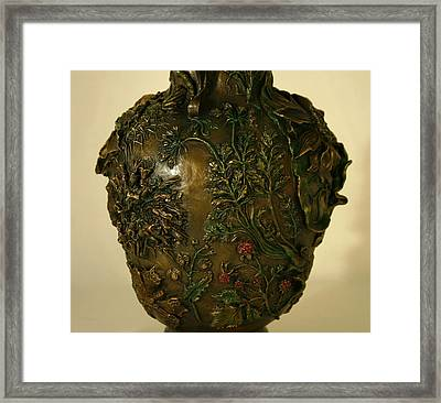 Wildflower Vase Detail Framed Print by Dawn Senior-Trask