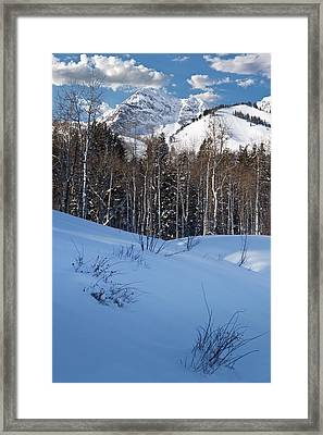 Winter In The Wasatch Mountains Of Northern Utah Framed Print by Utah Images
