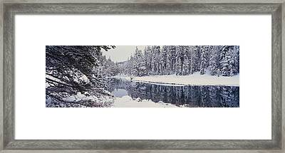 Winter Snowstorm In The Lake Tahoe Framed Print by Panoramic Images