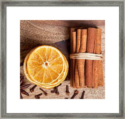 Winter Spices Framed Print by Nailia Schwarz