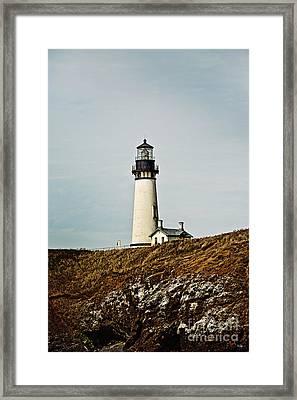 Yaquina Head Lighthouse Framed Print by Scott Pellegrin