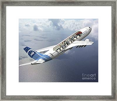 Zero-g Airbus Aircraft, Artwork Framed Print by David Ducros