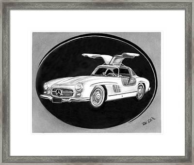 300 Sl Gullwing Framed Print by Peter Piatt