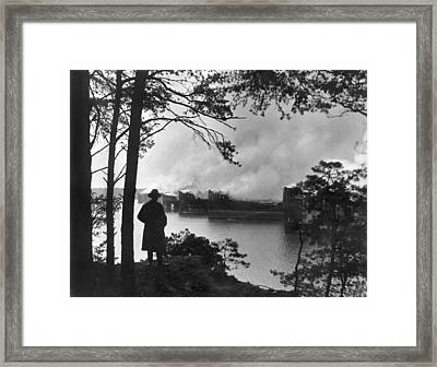 31 Ships Are Burned Framed Print by Underwood Archives