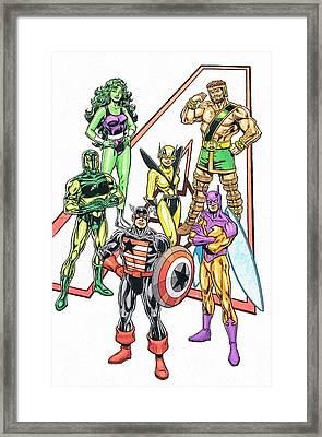 The Avengers Framed Print by Egor Vysockiy