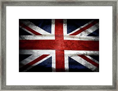 British Flag Framed Print by Les Cunliffe