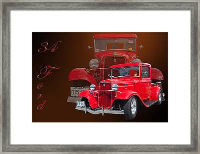 34 Ford Pick Up Framed Print by Jim  Hatch
