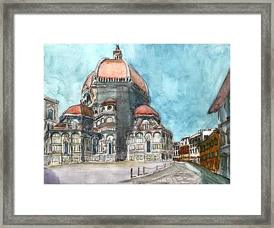 34 Via Del Proconsolo. Florence. Tuscany. Italy Framed Print by Anthony Sell