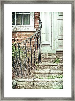 Stone Steps Framed Print by Tom Gowanlock